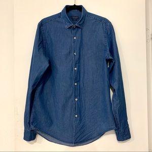 Zara Man Denim Dress Shirt